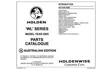 Holden WL Statesman & HSV Parts Catalogue Info Sheets Vehicle Options & Data