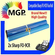 2x SHARP FO-9CR F0-9CR COMPATIBLE FAX FILM ROLLS FO9CR F09CR FO-P600/P610/P630