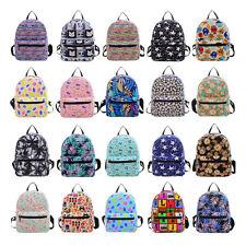 Pink mini cat.Girl Canvas Print Backpack Shoulder Bag Travel School Bag