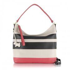 *radley* Medium Berwick Street Striped Leather Scoop Grab Bag -