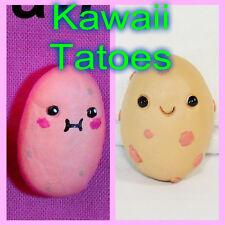 Kawaii Potato Clay mini Figure Handmade keychain pendante charm rear view mirror