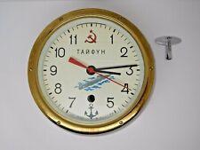 Vintage Russian Soviet Cccp Kauahguyckue Maritime Submarine Wall Clock - Working