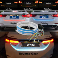2018 4 Colors Flow Type LED Car Tailgate Strip Brake Driving Turn Signal Light