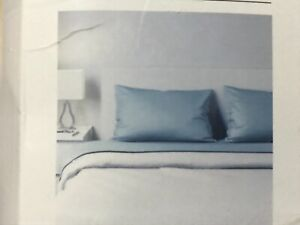 NEW IKEA NATTJASMIN Double Sheet Set Blue Flat, Fitted and 2 Pillowcases