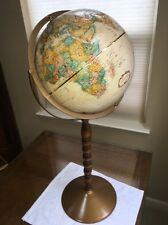 """1990 ARTICULATING REPLOGLE 12"""" x 32"""" H CLASSIC GLOBE w/ Metal And Wood Stand!"""