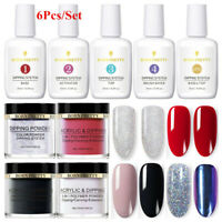 6 Boxes/Set BORN PRETTY 15ml Dip System Liquid 10ml Dipping Powder Starter Kit