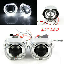 "2.5"" H1 LED Angel Eye HID Bi-Xenon Projector Lens Headlight Red Devil Demon Eye"
