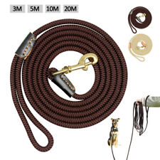 10/16/33/66ft Nylon Dog Leash Long Training Rope Small Large Dog Tracking Leash