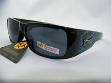 Biohazard Sunglasses,Biker,Motorcycle,Outdoor,Shades,Black/Blue,Item# 156 C