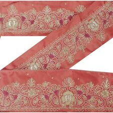 Sanskriti Vintage Decor Sari Border Hand Embroidered Sewing Craft Zardozi Lace