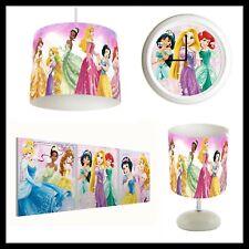 DISNEY PRINCESS - Girls Bedroom Lampshade Lightshade, Lamp, Clock, Canvas Prints