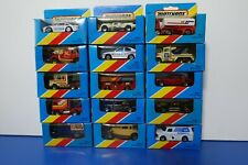 MATCHBOX 80's LTE BLUE BOX- INBOX UNOPENED - YOU PICK YOUR CAR