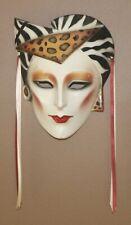 Vintage Wall Decor Clay Mask High Fashion Lady