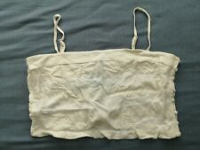 FOREVER21 Women's Ivory Cream Woven Cami Crop Top Size L Large New With Tags