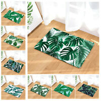 Chic Tropical Palm Leaf Floor Mat Area Rug Non-Slip Bath Carpet Bathroom Kitchen