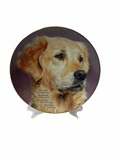 Cherished Golden Retriever Dog Plate Loyal and Precious Danbury Mint Collection