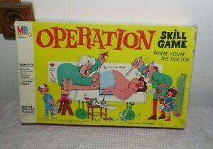 "Vintage 1965 Milton Bradley OPERATION The ""ELECTRIC"" GAME w/Smoking Doctor"