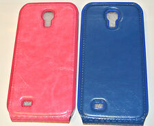 Slim Design Blue/Pink Genuine Leather Case Cover Skin For Samsung Galaxy S4