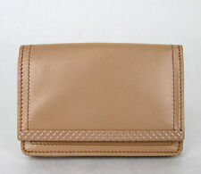 NEW BOTTEGA VENETA Leather Coin Purse Card Holder Wallet Peach 310531 6702