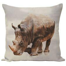 Lovely Soft Rhino Cushion Cover Multicoloured 55cm x 55cm 100% Polyester