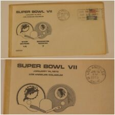 Super Bowl VII MIAMI DOLPHINS VS Washington Redskins Envelope 1972 VTG RARE
