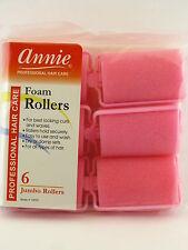 """ANNIE JUMBO 1-1/2"""" FOAM HAIR ROLLERS - 6 PCS. (1055)"""