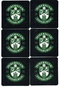 HIBERNIAN F.C. EDINBURGH Pack of Crested Beer Mats / Coasters FREE POST UK