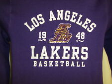 NWT NBA 4 Her Women's Size X-Large Los Angeles Laker's Hoodie Jacket Sequins $60