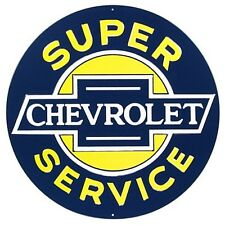 Chevrolet Service round large metal sign  350mm diameter  (ar)