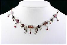 Nouveau Pilgrim Plaqué Argent Chaîne Collier rouge cristaux Swarovski anges émail