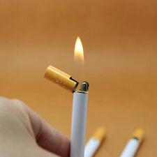 Cigarette-Shaped Flame Lighter Refillable Butane Gas Cigar Lighter