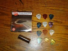 GUITAR PACKAGE PICKS & PICK HOLDER SLIDE STRAP STRINGS ELECTRIC STARTER PACKAGE
