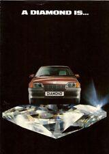 Vauxhall Astra & Belmont Diamond Limited Edition 1988 UK Market Sales Brochure