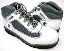 Timberland Shoes Lady Premium Leather Athletic White/Grey Boots Womens 6 EUR 37