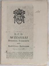 SENTENZA SACRA ROTA BOLOGNA CARLO ANTONIO CASANOVA MELOTTI PIZZOLI TADOLINI 1835
