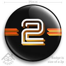 "BBC 2 Television TV Logo Badge 1970's 1980's -  25mm 1"" Badge"