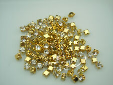 1440 PCS Loose crystal sew on rhinestone SS12 golden clear