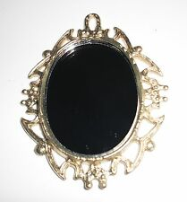D00575  Real Miniature Mirror, OOAK, Miniatures, Doll House, Jewelry, Crafts