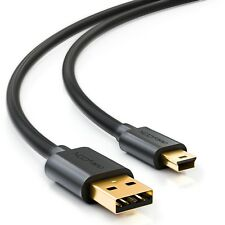 deleyCON 3m mini USB 2.0 Datenkabel - USB A-Stecker zu Mini B-Stecker