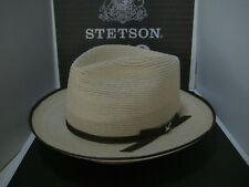 STETSON STRATOLINER SPECIAL EDITION NATURAL C-CROWN DRESS HEMP STRAW HAT