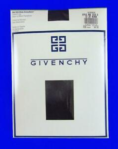 Givenchy Ref 555 New Vintage Sheer to Waist Pantyhose~Jet Black~Size D