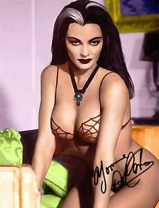 YVONNE DE CARLO LILLY THE MUNSTERS SIGNED AUTOGRAPH 8.5x11 PHOTO PICTURE REPRINT