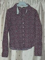 Hobbs ~ Ladies Pretty Long Sleeve Floral Cotton Blouse ~ Size 10
