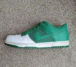 Nike Dunk Low pine green celtic trainers UK 7   Vintage 2008   318019-131