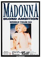 More details for madonna blonde ambition world tour german concert poster reproduction