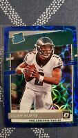 Jalen Hurts 2020 Panini Donruss Optic BLUE SCOPE PRIZM Rookie Eagles RC #164