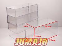 new Lot 4 boites vitrine cristal vide 1/24 neuves (sans base) SALVAT collection