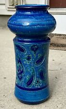 MCM Aldo Londi Bitossi Italy Rosenthal Netter Rimini Blue Paisley Pottery Vase
