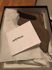 Brand New Barneys New York Suede Chelsea Boot Stone Grey/Taupe Women US 6 36