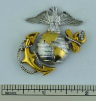 U.S. Marine Corps Officer Eagle, Globe and Anchor hat badge Sterling Silver EGA